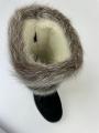 Унты нутрия серебро с вышивкой замша