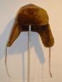 Меховая шапка-ушанка овчина коричневая