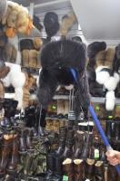 Ушанка бобр канадский черный