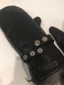 Рукавицы кожаные , внутри чернобурая лиса