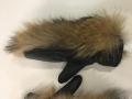 Рукавицы кожаные верх енот, внутри овчина
